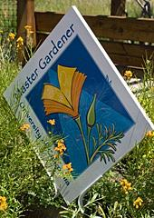 The Master Gardener sign that is visible from the street
